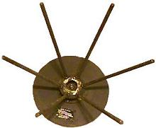 NASA Ultra High  Frequency Disc-Cone Antenna Assembly.