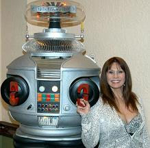 Barbara Luna with our B9 Lost in Space Robot