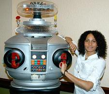 Christina Moses with our B9 Lost in Space Robot