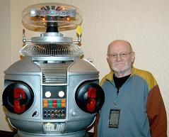 Morgan Sheppard with our B9 Lost in Space Robot