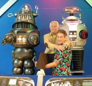 Actor Bob May & Rick with his Robots