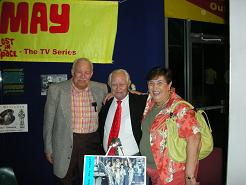 Bob May with Joe & Minnie Caspi
