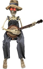 Banjo Playing Skeleton