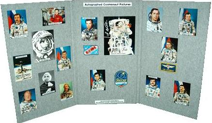 Autographed Cosmonaut Picture Display