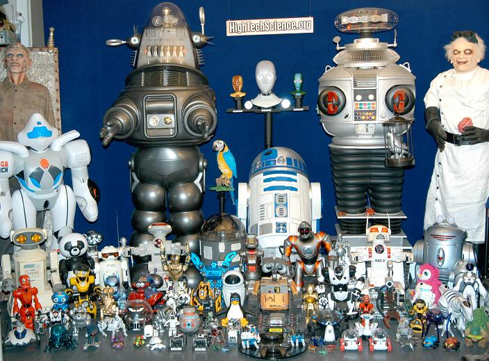 Here are some of our robots on display