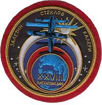 Soyuz TMA-1/TM-34-ISS Flown MIR-28 Patch