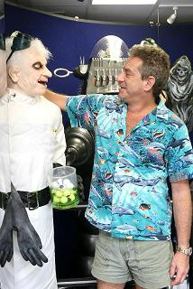 Rick Newman with one of his animatronics