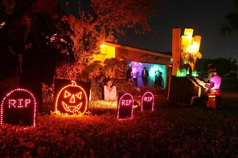 Part of our outdoor Halloween show