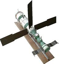 Russian MIR-Kvant Space Model