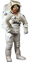 NASA EVA Space Suit with a Manned Maneuvering Unit (MMU) attached.