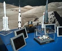 On the left is our Angara Launch Rocket Model on display at the Museum of Discovery & Science in Fort Lauderdale, Florida.