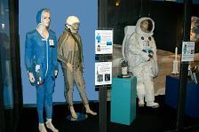 In the middle is one of our High Altitude Suits on display at the Museum of Discovery in Fort Lauderdale, Florida.