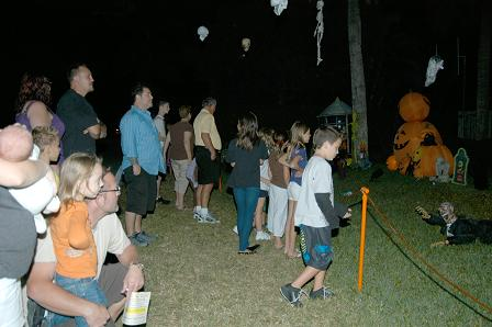 People gather to watch our 2010 Halloween show
