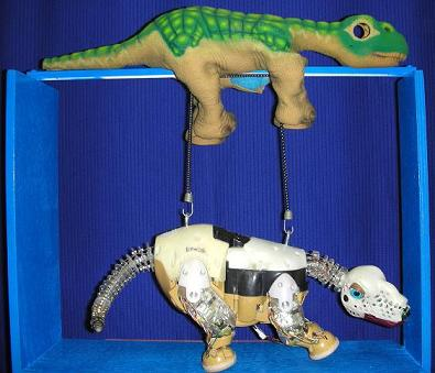 Here is an educational display we made showing how the Pleo works.