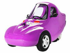 A purple Sparrow electric vehicle