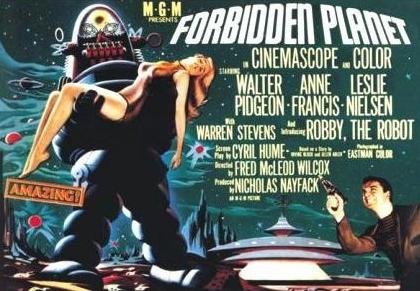 "Original Movie Poster from:  ""Forbidden Planet""...    Robby's debut"