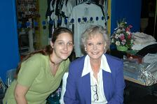 """Lost in Space"" fan Sarah Haberman with TV legend June Lockhart"