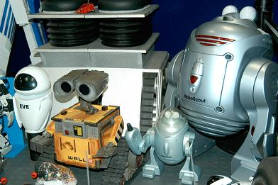 Here is our EVE, WALL-E, RoboScout & RoboScout Jr.