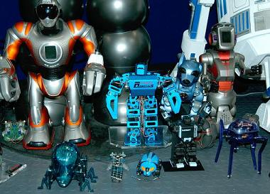 Here is our Antoid posing with some of our other robots.