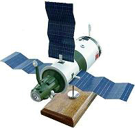 Russian Salyut-6 Space Station Model