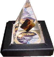 Flown Skylab Artifact in Lucite Pyramid