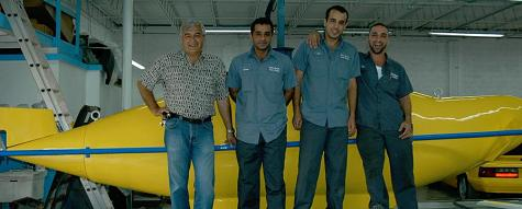 The crew at South Palm Automotive that worked on the sub