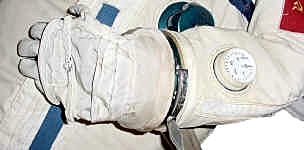 Pressure Gauge on sleeve of SOKOL Space Suit